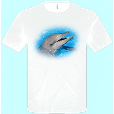 Tričká s potlačou zvierat - Delfín (pánske tričko)