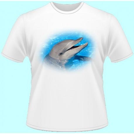 Tričká s potlačou zvierat - Delfín (dámske tričko)