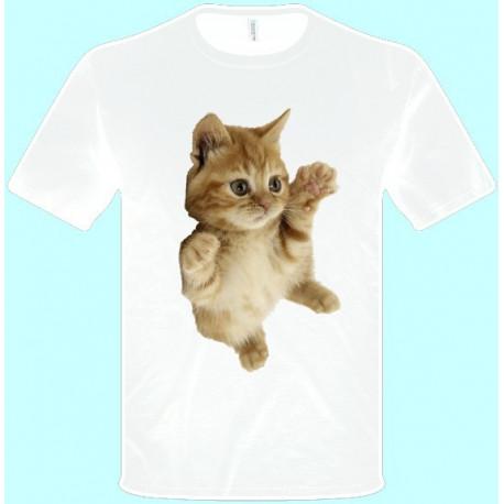 Tričká s potlačou zvierat - Mačiatko (pánske tričko)
