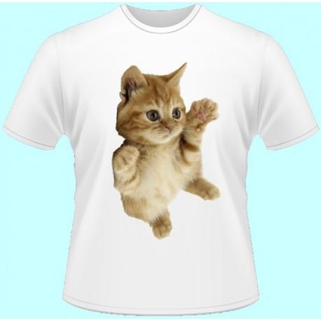 Tričká s potlačou zvierat - Mačiatko (dámske tričko)