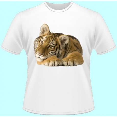 Tričká s potlačou zvierat - Tigríča (dámske tričko)