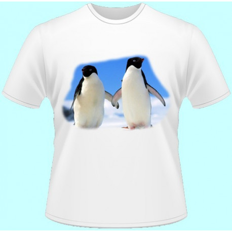 Tričká s potlačou zvierat - Tučniak (dámske tričko)