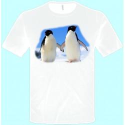 Tričká s potlačou zvierat - Tučniak (pánske tričko)