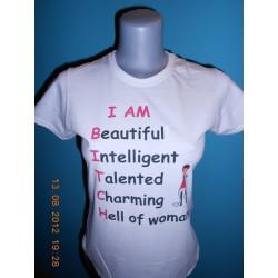 Tričká s nápismi - Iam beautiful...