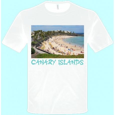 Tričká s potlačou - Kanárske Ostrovy (pánske tričko)