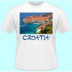 Tričká s potlačou - Chorvátsko (dámske tričko)