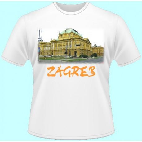 Tričká s potlačou - Záhreb (dámske tričko)