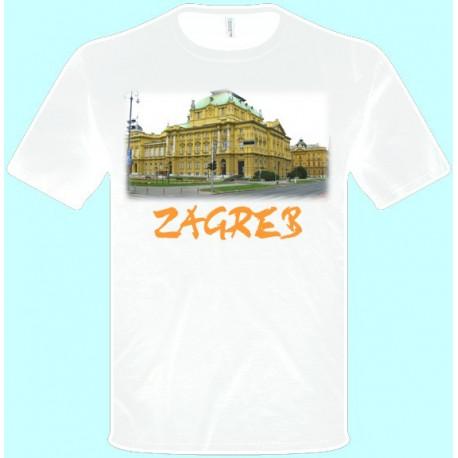 Tričká s potlačou - Záhreb (pánske tričko)