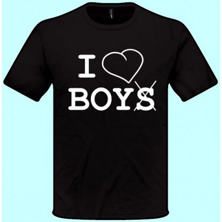 Tričká s potlačou - I love boys (pánske tričko)