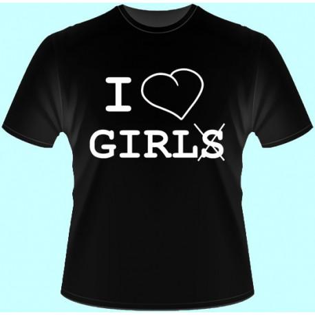 Tričká s potlačou - I love girls (dámske tričko)