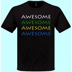 Tričká s potlačou - Awesome (pánske tričko)