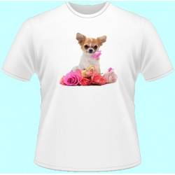 Tričká s potlačou zvierat - Čivava (dámske tričko)