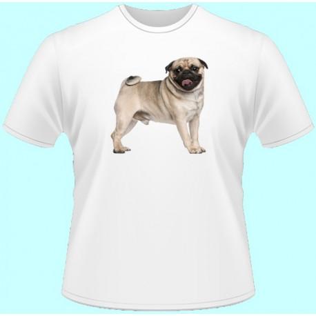 Tričká s potlačou zvierat - Mops (dámske tričko)