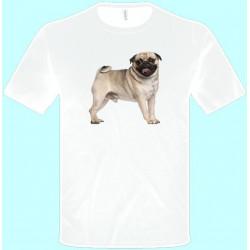 Tričká s potlačou zvierat - Mops (pánske tričko)