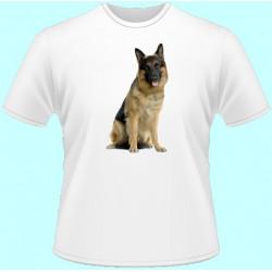 Tričká s potlačou zvierat - Vlčiak (dámske tričko)
