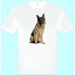 Tričká s potlačou zvierat - Vlčiak (pánske tričko)