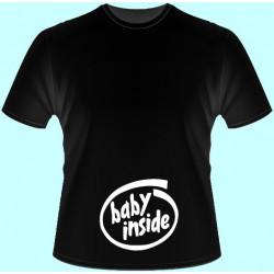 Tričká s potlačou - Baby inside i (dámske tričko)
