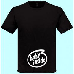 Tričká s potlačou - Baby inside i (pánske tričko)
