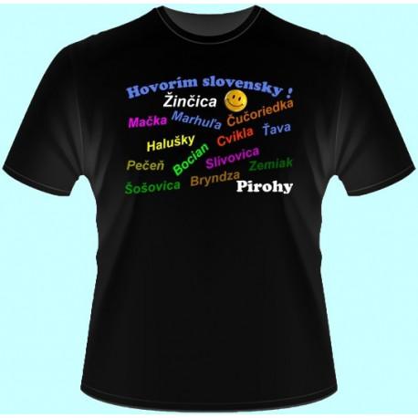 Tričká s potlačou - Hovorím slovensky (dámske tričko)