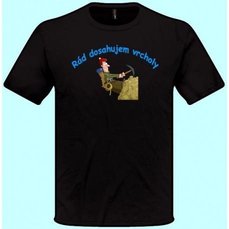 Tričká s potlačou - Najlepší horolezec (pánske tričko)