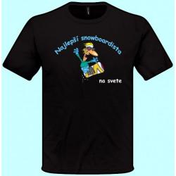 Tričká s potlačou - Najlepší snowboardista (pánske tričko)
