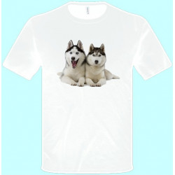 ea2fbeb935eb Tričká s potlačou zvierat - Husky (pánske tričko)