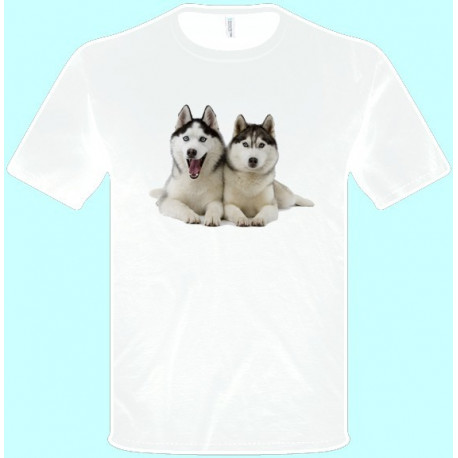 Tričká s potlačou zvierat - Husky (pánske tričko)
