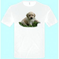 Tričká s potlačou zvierat - Pitbul šteniatko (pánske tričko)