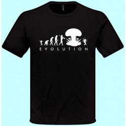 Tričká s potlačou - Evolúcia 2 (pánske tričko)