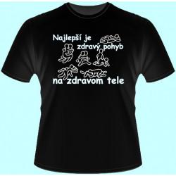 Tričká s potlačou - Najlepší je zdravý pohyb na zdravom tele (dámske tričko)