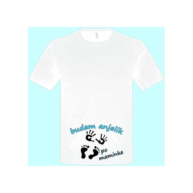 13df2ec23e80 ... Tričká s potlačou - Budem anjelik po maminke (pánske tričko)