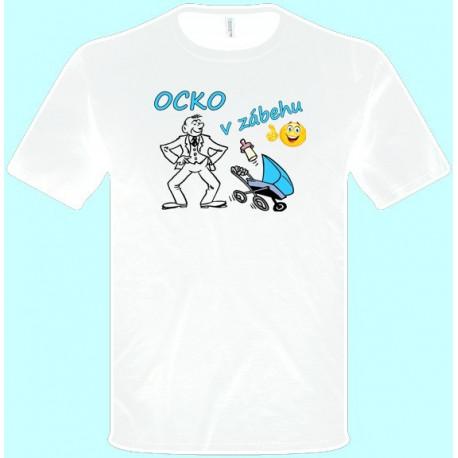 Tričká s potlačou - Ocko v zábehu (pánske tričko)