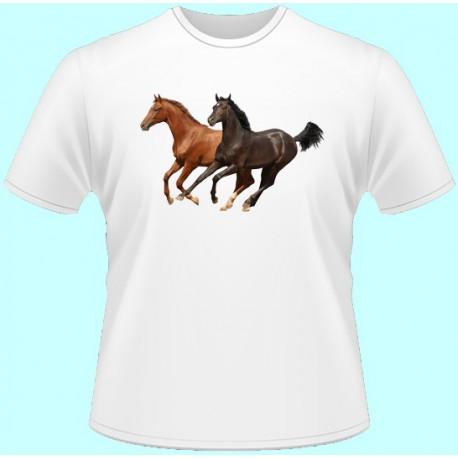 Tričká s potlačou zvierat - Kôň (dámske tričko)