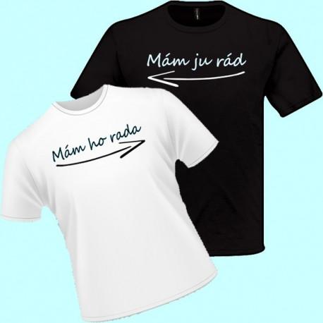 Tričká s potlačou - Mám ju rád (pánske tričko)