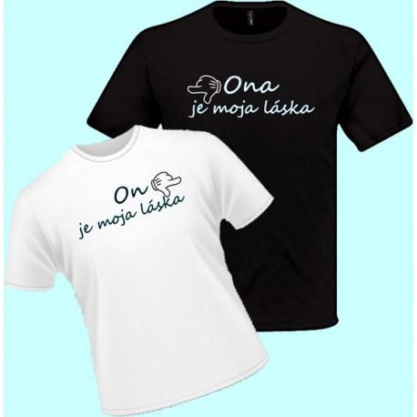 Tričko s potlačou - On je moja  láska (pánske tričko)
