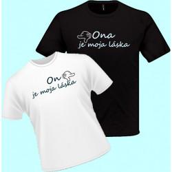Tričko s potlačou - On je moja  láska (dámske tričko)