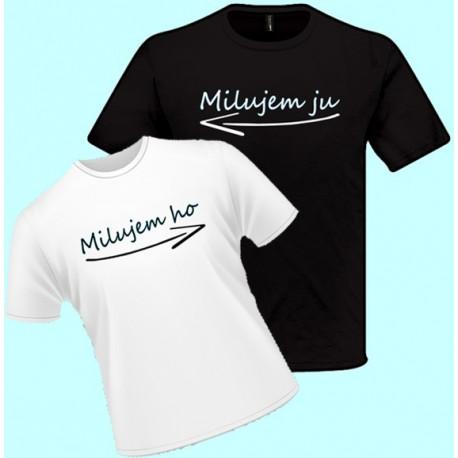 Tričká s potlačou - Milujem ho (dámske tričko)