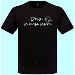 Tričká s potlačou - x Ona je moja sestra - doprava (pánske tričko)
