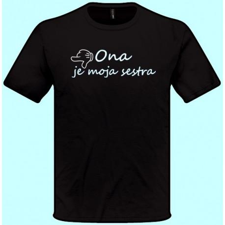 Tričká s potlačou - x Ona je moja sestra - doľava (pánske tričko)