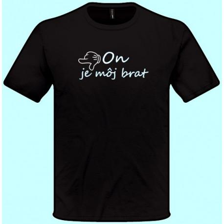 Tričká s potlačou - x On je môj brat - doľava (pánske tričko)