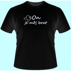 Tričká s potlačou - x On je môj brat - doľava (dámske tričko)