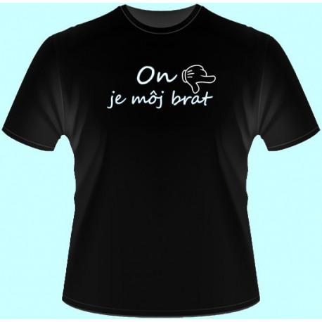 Tričká s potlačou - x On je môj brat - doprava (dámske tričko)