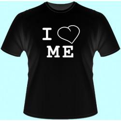 Tričká s potlačou - I love me (dámske tričko)