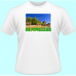 Tričká s potlačou - Seychely (dámske tričko)