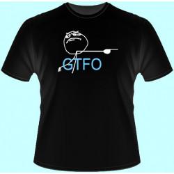 Vtipné tričká - GTFO (dámske tričko)