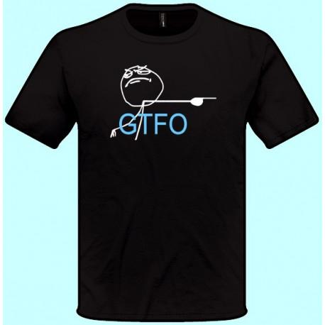 Vtipné tričká - GTFO (pánske tričko)