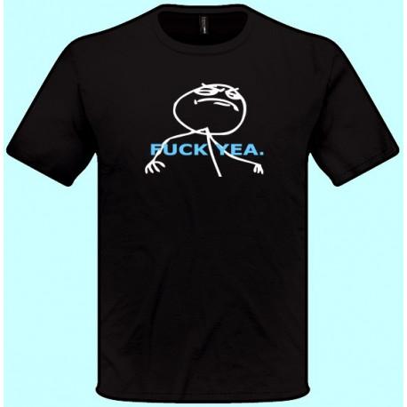 Vtipné tričká - Fuck Yea (pánske tričko)