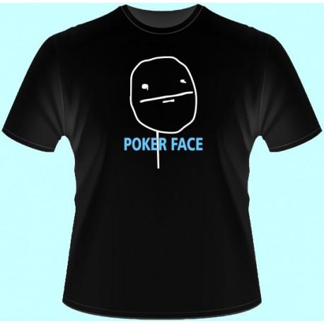 Vtipné tričká - Poker Face (dámske tričko)