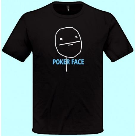 Vtipné tričká - Poker Face (pánske tričko)