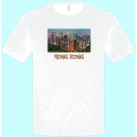 Tričká s potlačou - Hong Kong (pánske tričko)